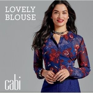 CABI 3122 Lovely Paisley floral blouse
